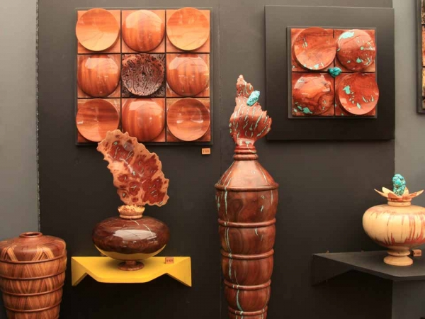 Turned wood pieces by Bryan Sykes