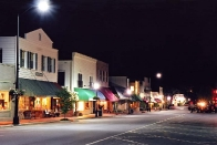 Downtown Highlands at night