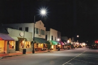 Main Street Highlands, NC at night