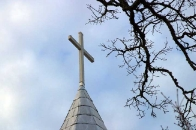 cross on the Episcopal Church in Highlands, NC