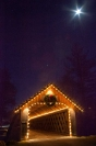 Covered bridge at the Bascom at Christmas