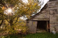 old barn in Scaly Mountain community
