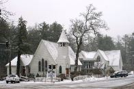 Episcopal Church of the Incarnation after a snow
