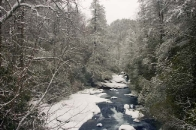Winter :: Winter Snow on the Chattooga River