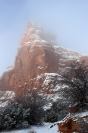 Fog and Snow, Arches National Monument, Utah