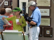 customers browse through work by Vicki Ferguson
